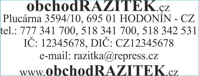 Rozmiar 23x59 mm - wzor 2 || sklepPIECZATEK.pl