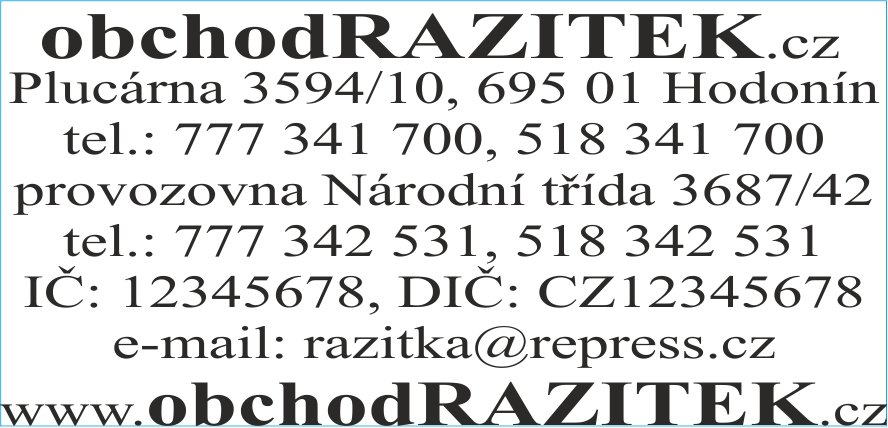 Rozmiar 30x69 mm - wzor 1 || sklepPIECZATEK.pl